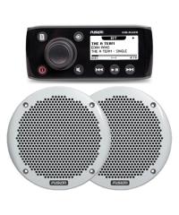 Fusion MS-RA55 AUX/Bluetooth Marine Stereo & MS-EL602 150W Speakers
