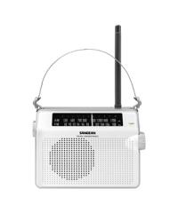 Sangean PR-D6 Compact AM/FM Radio - White