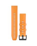 Garmin QuickFit 22 Watch Band - Solar Flare Orange Silicone